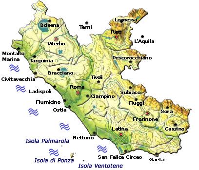 Mappa Regione Lazio