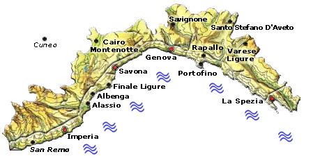 Mappa regione Liguria