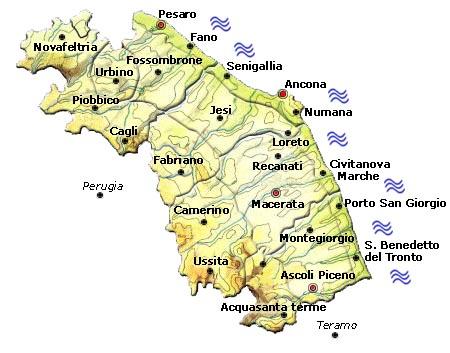 Mappa regione Marche