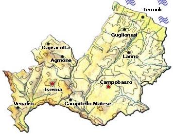 Mappa Regione Molise