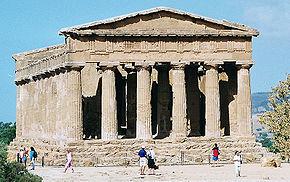 Il Tempio della Concordia ad Agrigento