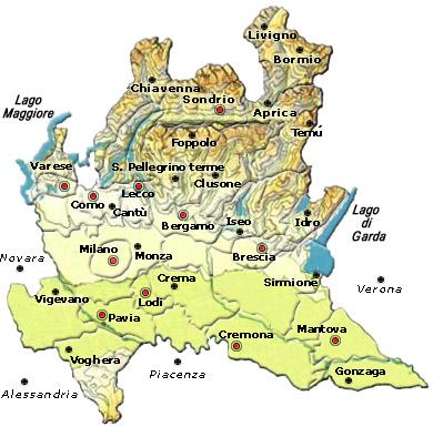 Mappa regione Lombardia