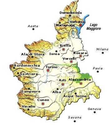 Mappa Regione Piemonte
