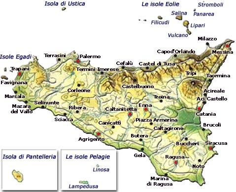 Mappa Regione Sicilia