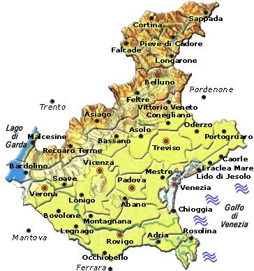 Mappa regione Veneto